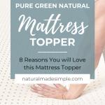 pure green natural latex mattress topper