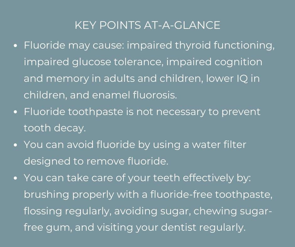 key points of fluoride use