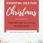 essential oils for christmas