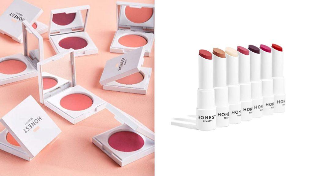 honest beauty cheek cream and lip tint - nontoxic makeup brand